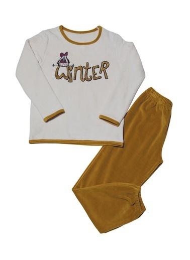 Hays Kids Kız Çocuk Ultrasoft 2Li Pijama Takımı Hardal